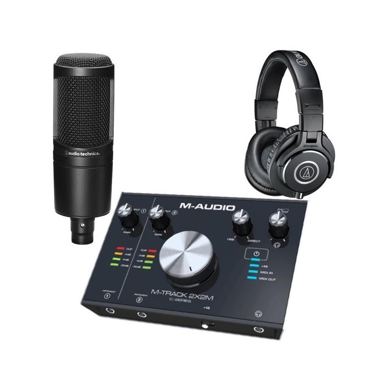 Pack Studio 2x2M AT2020 ATH-M40X