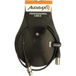 Audibax Silver XLR 1m