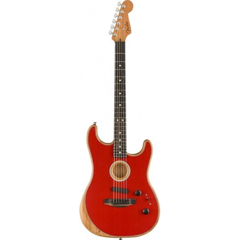 Fender American Acoustasonic Stratocaster Dakota Red