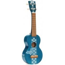 Mahalo Kahiko Soprano Batik Blue