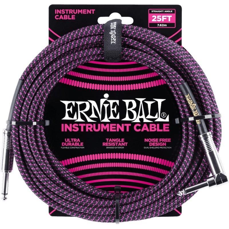 Ernie Ball Braided 25' Black & Purple