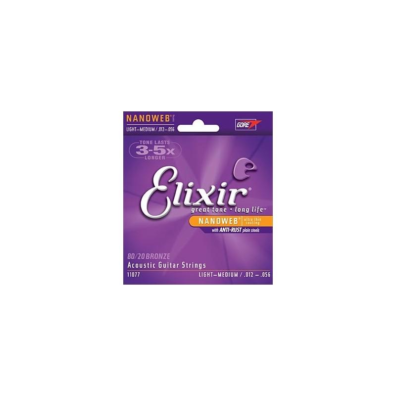 Elixir Nanoweb Light-Medium Acoustic